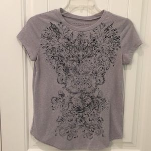 Aeropostale graphic short sleeve tee - gray & navy